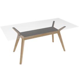 John Lewis Akemi Rectangular 6 Seater Dining TableGlass