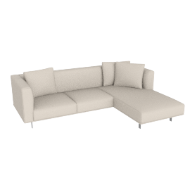 Bilsby Sectional with Right Chaise, Kalahari Leather Gesso