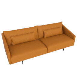 Costura Sofa, Elmo Baltique Leather - Saddle