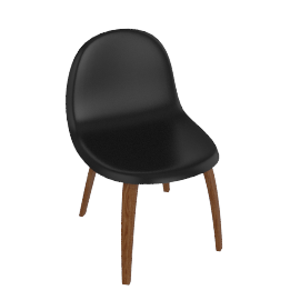 Gubi Hi-Rek Chair, black walnut