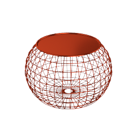 TABLE BALL WIRE COPPER/ORANGE TRAY