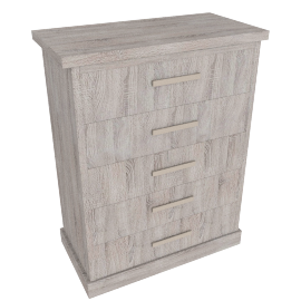 Chevron 5-Drawer Chest