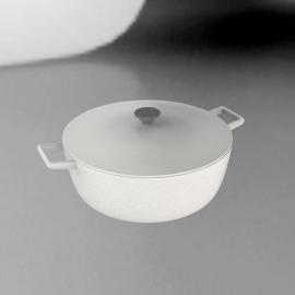 Le Creuset Oval Casserole, White, 25cm