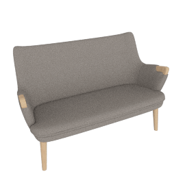 CH72 Sofa, Graham with Oak