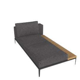 Grid Right Facing Chaise, Pumice