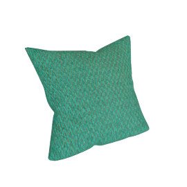 Melange Filled Cushion - 45x45 cms, Green