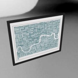 Bold & Noble Thames Framed Silkscreen Print, 79 x 63cm
