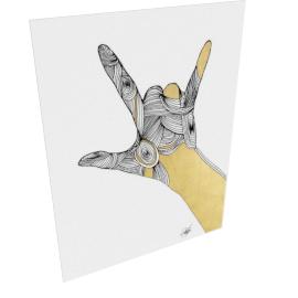 Sign Language III by KelliEllis - 54''x72'', Gallery wrap