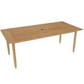 Terassi Dining Table, Teak