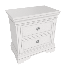 Grandview Night Stand, White