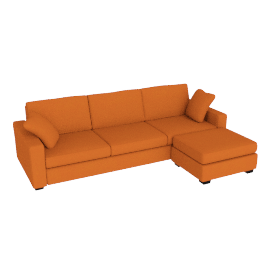 Tom Sofa Bed, Right Hand Facing, Russet