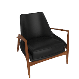 Seal Chair, Low Back, Black