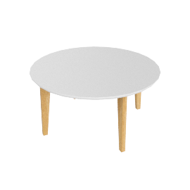 Abin Coffee Table, White Top/Oak