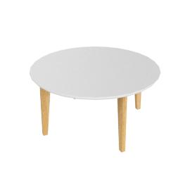 Abin Coffee Table, White Top/Oak