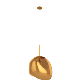 Melt Pendant, Gold