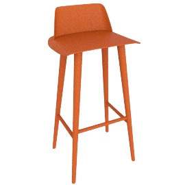 Nerd Barstool, Orange