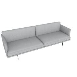 Outline Sofa, Soft Weave Smoke