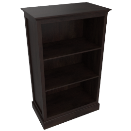 Little Sweetie Nursery Short Bookcase, Dark Wood