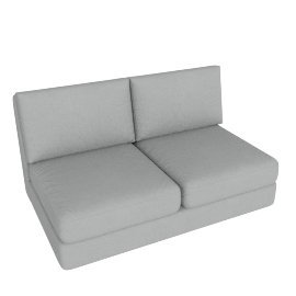 Eterno 2 Seater Armless, Cloud