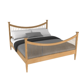 Essence High End Bed, Super Kingsize, Oak