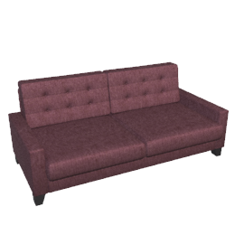 Mayfair Large Sofa, Damson
