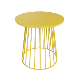 Mesh Side Table, Yellow