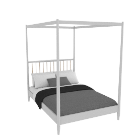 Lomond 4 Poster Bed French grey, double