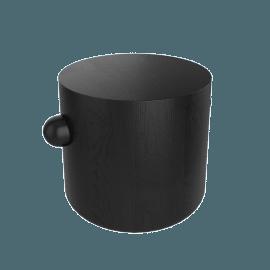 Hew Side Table, Shape A, Black Painted Ash