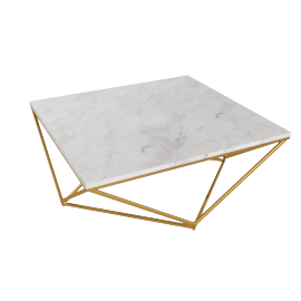 Lunar Coffee Table - White/Gold