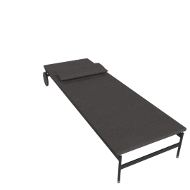 Sommer Adjustable Chaise, Black