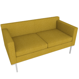 Theatre Two Seater, Ducale Wool, Charcoal