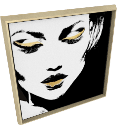 Glam Rock VII by KelliEllis - 30''x30'', Gold
