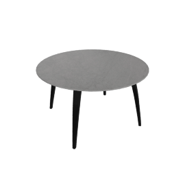 Organic Round Table, Black