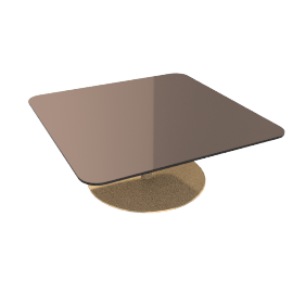 Flash Square Coffee Table, Bronze