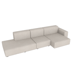 Mags Soft Low Wide Sectional with Right Chaise, Maharam Mode - 009 Clavicle