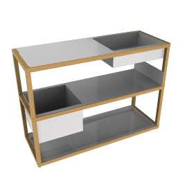 Lap Shelving System, Low Frame - Oak