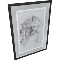 Pencil Art Twin Pack Picture Frame - 50x70x1.5 cms