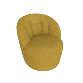 Margot Swivel Chair, Antique Gold Velvet