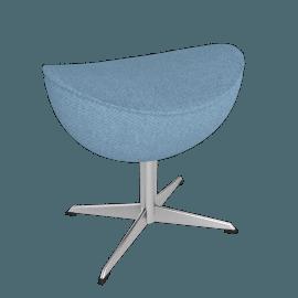 Egg™ Footstool - Fame Fabric - Light.Blue