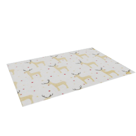 Reindeer Placemat, White/Gold