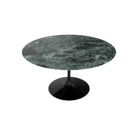 Saarinen Round Dining Table 54'', Coated Marble 2 - Blk.VerdeAlpi