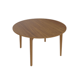 Dulwich Round Extension Table, Walnut