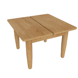 Terassi Side Table, Teak