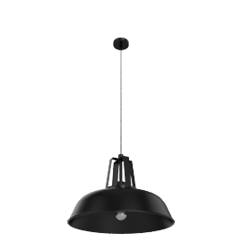 Absinthe Lemmy AB pendant light, black