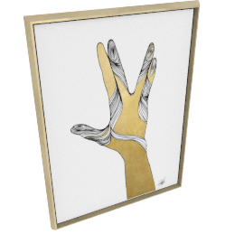 Sign Language VIII by KelliEllis - 36''x48'', Gold