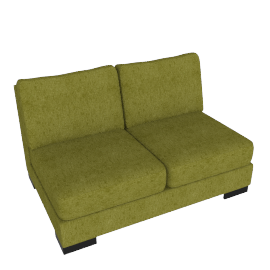 Signature 2 Seater Armless, Dark lime