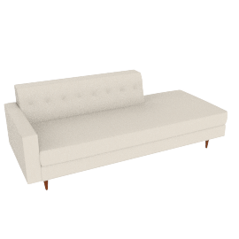 Bantam Studio Sofa, Left - Vienna Leather.Ivory