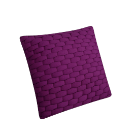 Stuart Filled Cushion - 45x45 cms, Purple