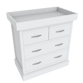 Little Sweetie Nursery 2 over 3 drawer chest w/changer, White
