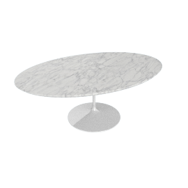 Saarinen Low Oval Coffee Table - Coated Marble 2 - Wht.WhiteExtra